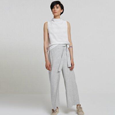 Önü Bağlamalı Pantolon