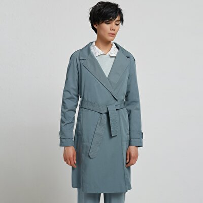 Stitch Detailed Trenchcoat