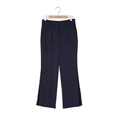 Bol Paça Yan Panel Detaylı Pantolon
