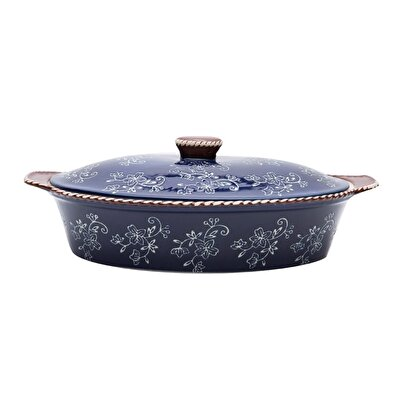 Ceramic Oven Bowl ( 35 X 22 X 7 Cm )