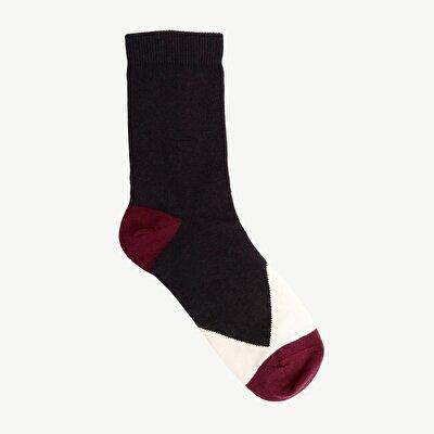 Renk Bloklu Çorap