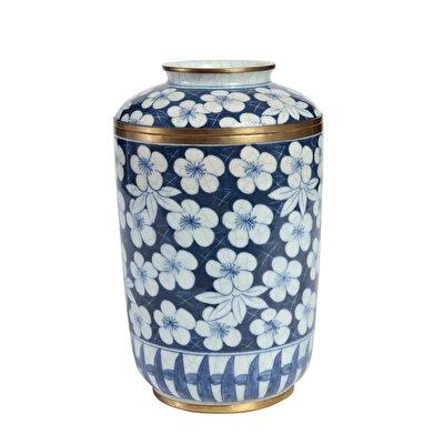 Dekoratif Obje - Blue Blanc Küp (16x5x26,5cm)