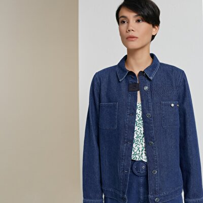 Stitch Detailed Denim Jacket