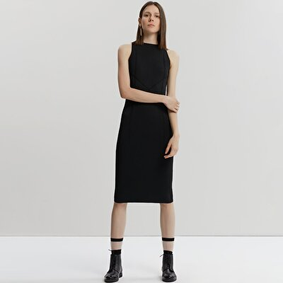 High Neck Knit Dress