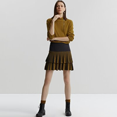 Double Layered Knit Skirt