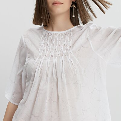 Pleat Detailed Blouse