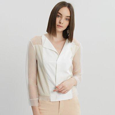 Damen Hemd mit transparenten Details