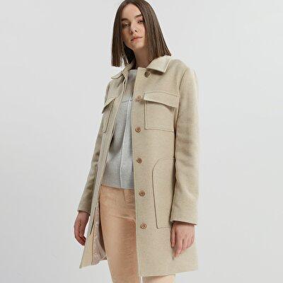Pocket Detailed Long Coat