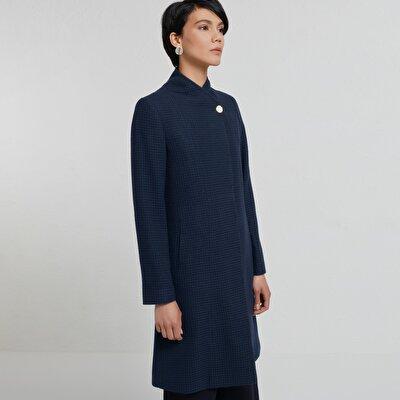 Damen Mantel mit Kimono Kragen