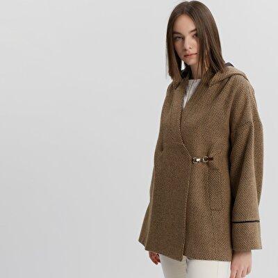 Cut Detailed Short Coat