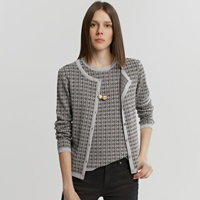 Shiny Knit Cardigan