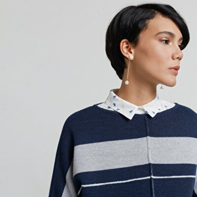 Stripe Detailed T Shape Knitwear
