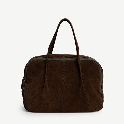 Wildleder Handtasche groß