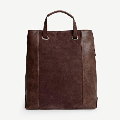 Doppelseitige Tasche aus Wildleder