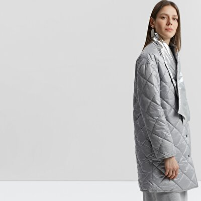Quilted Microfiber Trenchcoat