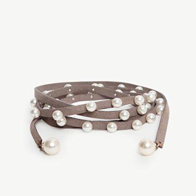 Damen Gürtel mit Perlen