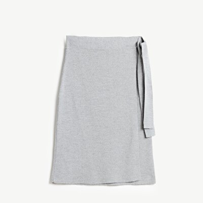 Double Breated Knit Skirt