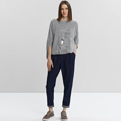 Carrot Fit Denim Trouser