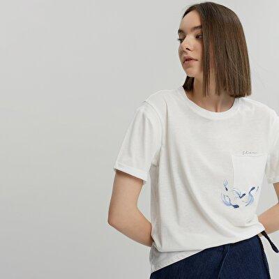 T-Shirt mit Rippkragen
