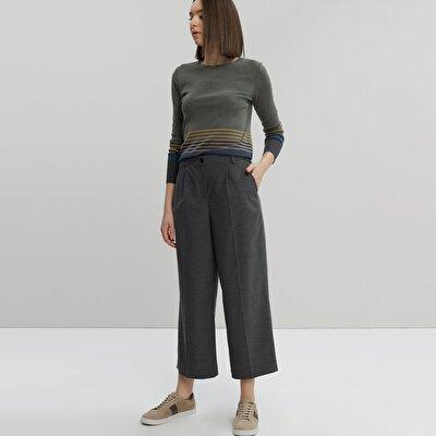 Önü Plili Pantolon