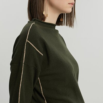 Stripe Detailed Long Sleeve Knitwear