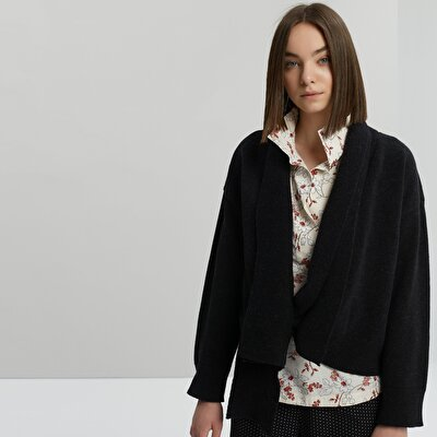Shawl Neck Knit Cardigan