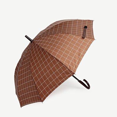 Großer Regenschirm mit Karomotiven