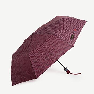 Schirm mit kurzen Streifen