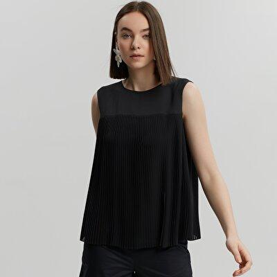 Plise Detaylı Bluz