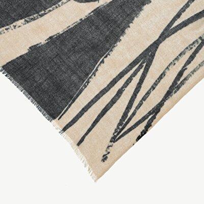 Schal auf Baumwolle mit Blumenmuster