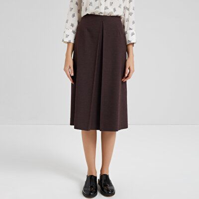 Pleat Detailed Skirt