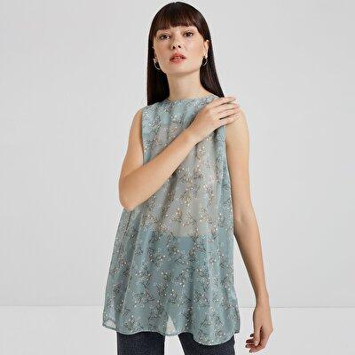 Sırt Detaylı Kolsuz Bluz