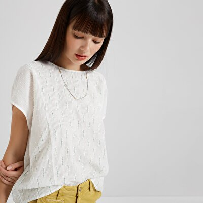 Short Sleeve Crew Neck Blouse