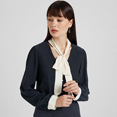 Damen Hemd mit Schleife