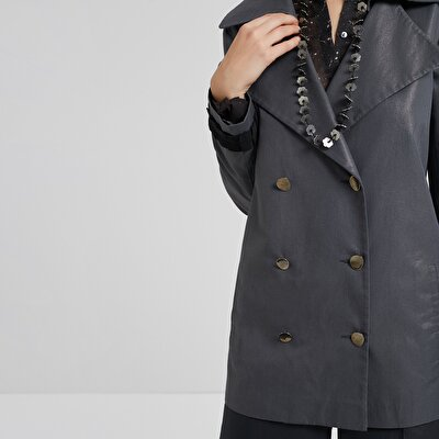 Trim Detailed Trenchcoat