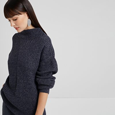 High Neck Back Detailed Knitwear