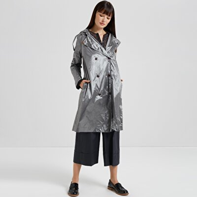 Sleeve Detailed Raincoat