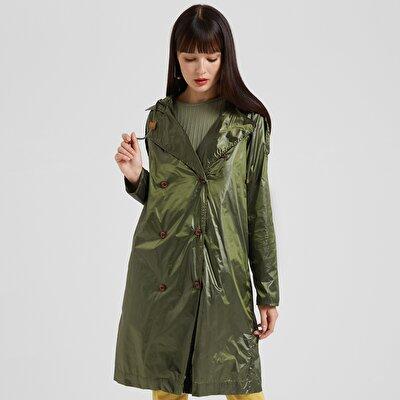 Sleeve Detailed Raincoat