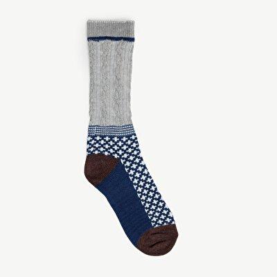Saç Örgülü Çorap