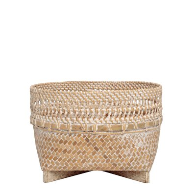 Rattan Basket ( 25  X  16 Cm )