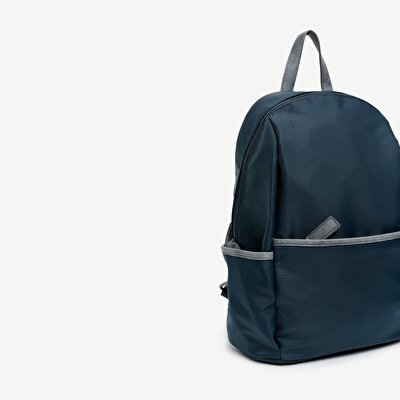 Fabric Backpack With Zipped  Pocket