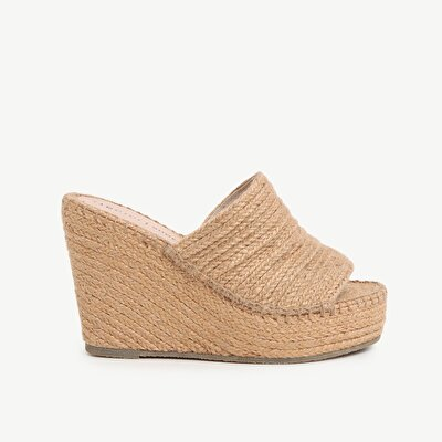 Jute High Heel Slipper