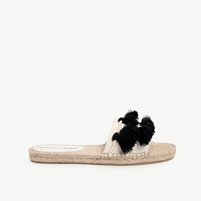 Espadrille Slipper With Tassel