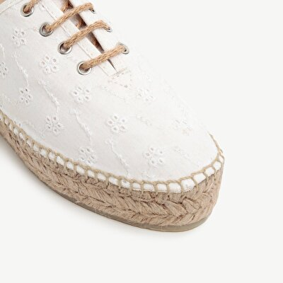 Fabric Espadrille With Lace