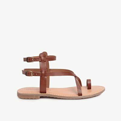 Strappy Ankle Tie Multi Strap Leather Sandals