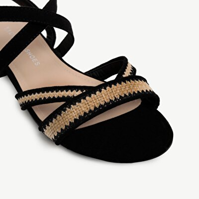 Straw Detailed Sandal
