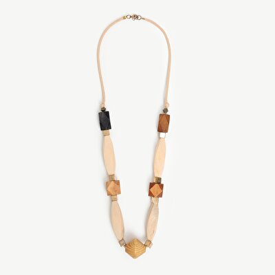 Necklace With Wooden Shapes
