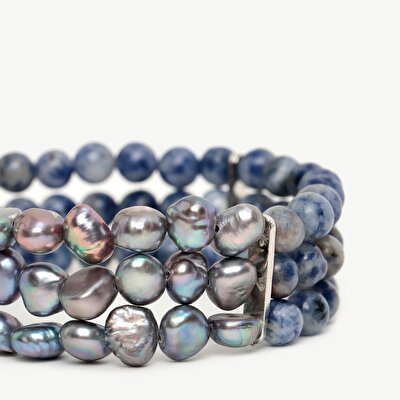 Multirow Bracelet With Pearls