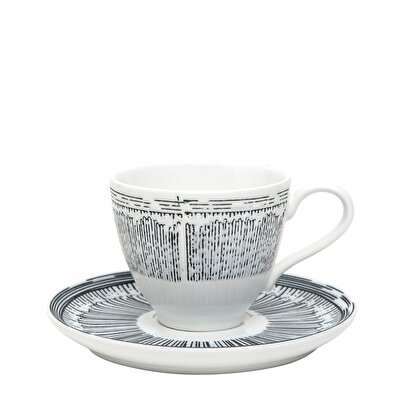 Cup And Saucer ( 12,6  X  6,5 Cm )