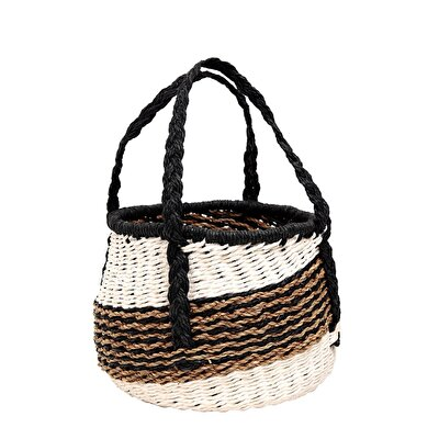 Rattan Basket ( 19  X  19 Cm )